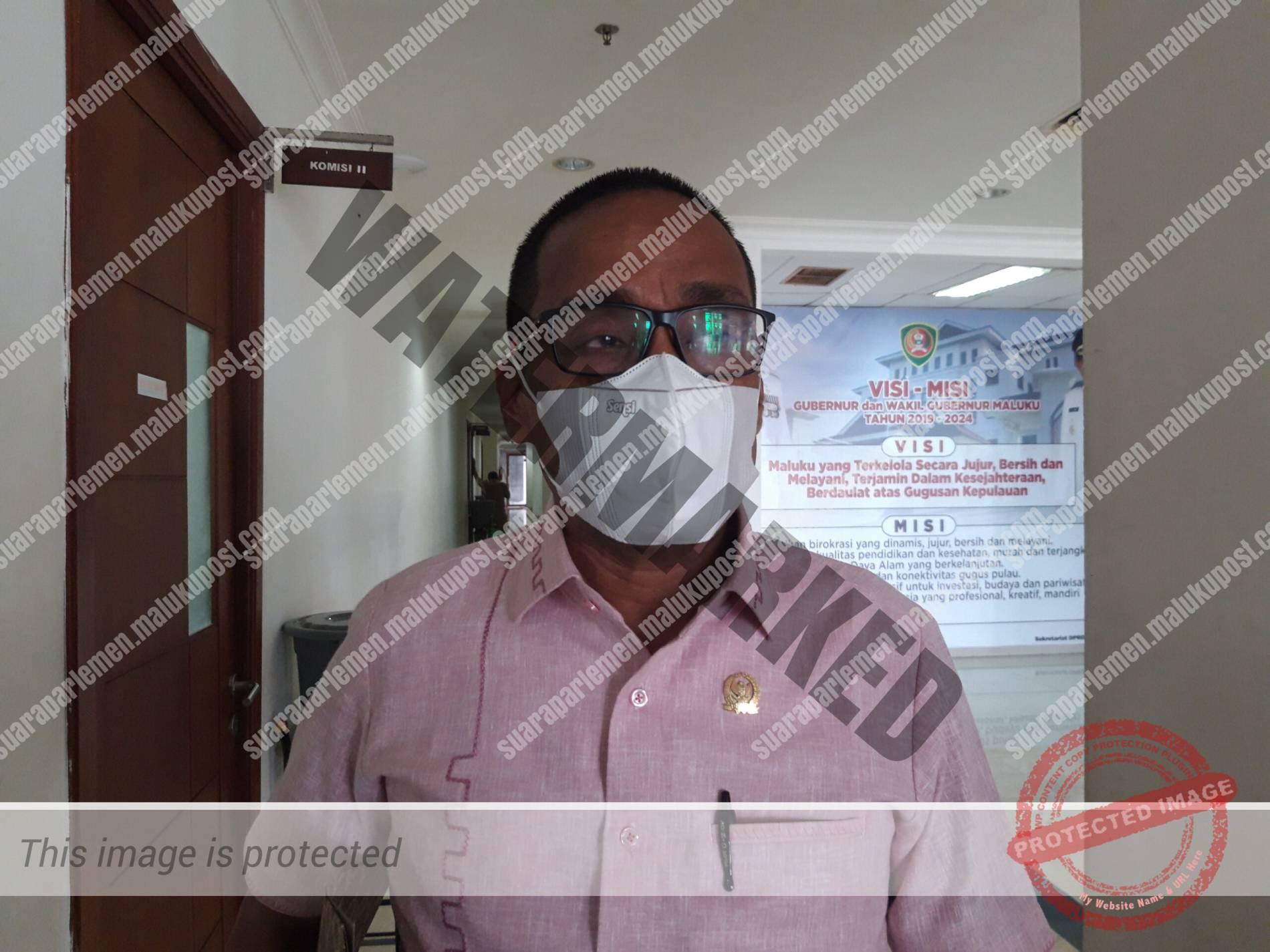 Ketua Bapemperda DPRD Maluku, Edison Sarimanella